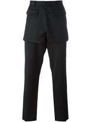 D.Gnak Overlay Trousers Black
