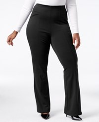 Inc International Concepts Plus Size Ponte Bootcut Pants Only At Macy's Deep Black