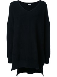 Rito V Neck Oversized Jumper Black