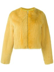 Liska Cropped Jacket Yellow And Orange