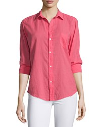 Frank And Eileen Barry Long Sleeve Voile Shirt Strawberry Women's