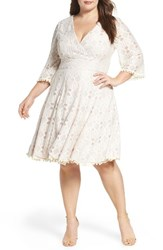 Eliza J Plus Size Women's Lace Fit And Flare Dress