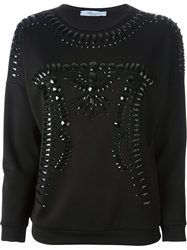 Blumarine Embellished Sweatshirt Black