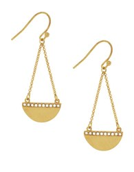 Cole Haan 3 25 Madison Ave Pave Core Half Moon Chain Drop Earrings Gold