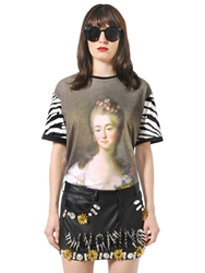 Ungaro Madame Du Barry Printed Cotton T Shirt Multi