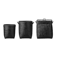 Day Birger Et Mikkelsen Bamboo Baskets Set Of 3 Black