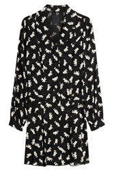 Anna Sui Cat Print Dress Black