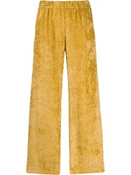 Peserico Micro Pleated Trousers Yellow