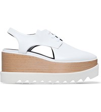 Stella Mccartney Elyse Cut Out Flatform Shoes White