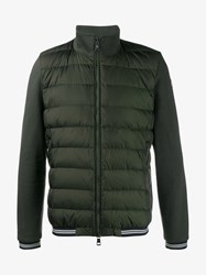 Moncler Quilted Feather Down Jacket Green White