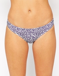 Wolf And Whistle Wolf And Whistle Double Frill Ditsy Hipster Bikini Bottom Lilacpurpledaisy