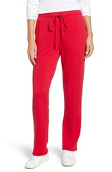 Chaus French Terry Drawstring Pants Red Star