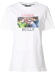 House Of Holland Cyber Bully T Shirt Cotton White