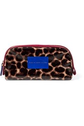 Marc By Marc Jacobs Leather Trimmed Cotton And Pvc Cosmetics Case Leopard Print