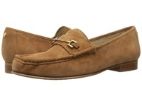 Sam Edelman Talia Saddle Kid Suede Leather Women's Shoes Beige