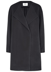 Schumacher Ultimate Impact Grey Wool Blend Coat
