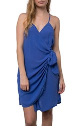 O'neill Marlo Wrap Dress Baja Blue
