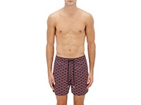 Vilebrequin Men's Anchor Print Swim Trunks Navy