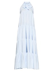 Lisa Marie Fernandez Tiered Cotton Chambray Dress
