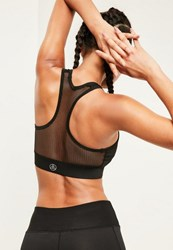 Missguided Active Black Fishnet Sports Bra