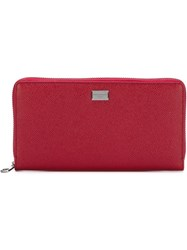 Dolce And Gabbana 'Dauphine' Wallet Red