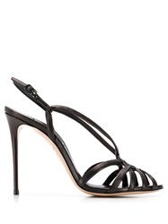 Casadei Strappy Stiletto Sandals Black