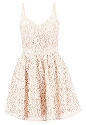 Little Mistress Petite Cocktail Dress Party Dress Nude