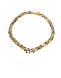 Lord And Taylor Sapphire Diamond Closure 14K Gold Necklace