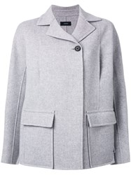 Joseph Fitted Jacket Grey