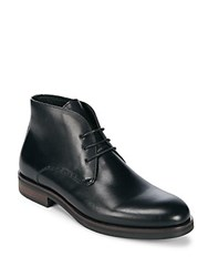 Saks Fifth Avenue Rimini Eye Leather Chukka Boots Black