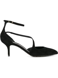 Dolce And Gabbana Ankle Strap Pumps Black