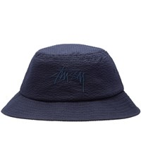 Stussy Stock Seersucker Bucket Hat Blue