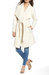 Bb Dakota Women's Issac Ribbed Blanket Coat Oyster