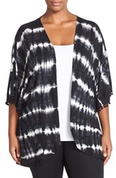 Plus Size Women's Pj Salvage Tie Dye Jersey Cardigan