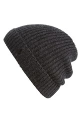 Men's Polo Ralph Lauren Cashmere And Wool Rib Knit Beanie Grey Onyx Heather