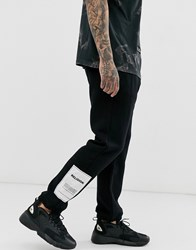 Religion Joggers With Patch Detail In Black