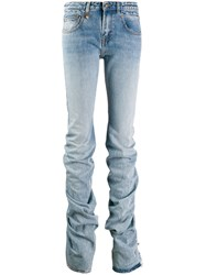 R 13 R13 Gathered Hem Jeans Blue