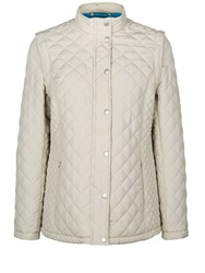 Dash Short Zip Off Quilted Coat Natural