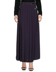 Versace Collection Long Skirts Dark Purple