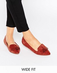 Asos Leo Wide Fit Ballet Flats Rust Orange