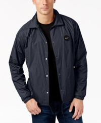 Rvca Men's Motors Coach Jacket Carbon