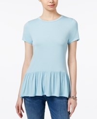Tommy Hilfiger Peplum Top Only At Macy's Porcelain Blue