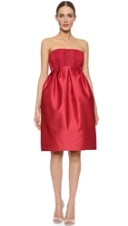 Zac Posen Strapless Dress Cardinal Red
