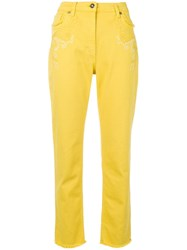 Etro Embroidered Slim Jeans Yellow