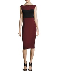 Narciso Rodriguez Colorblock Ballet Sheath Dress Purple Black