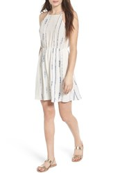Lush Women's Embroidered Apron Dress Off White