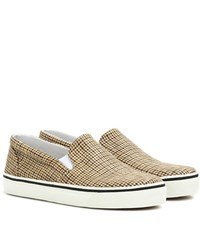Isabel Marant Checked Blumy Sneakers Brown