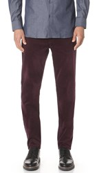 Club Monaco Lux 5 Pocket Corduroy Pants Dark Burgundy