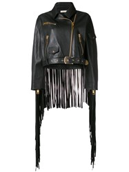 Natasha Zinko Oversized Fringed Jacket Black