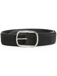 Orciani Suede Buckle Belt Black